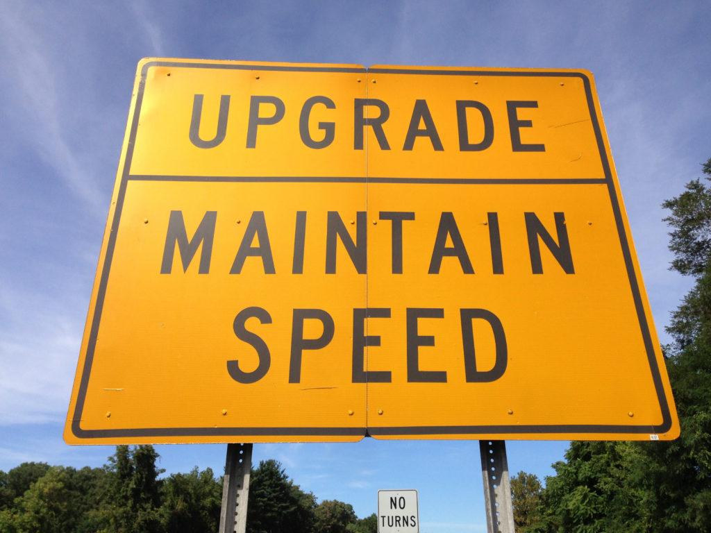 v19 upgrade sign