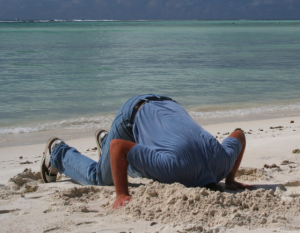man with head in sand about GDPR